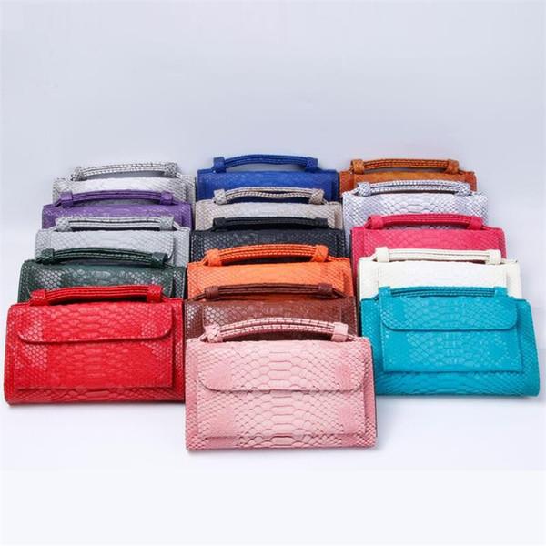 Female Purse Snake skin pattern wallet female famous brand cellphone pocket Genuine leather women money bag clutch women wallet