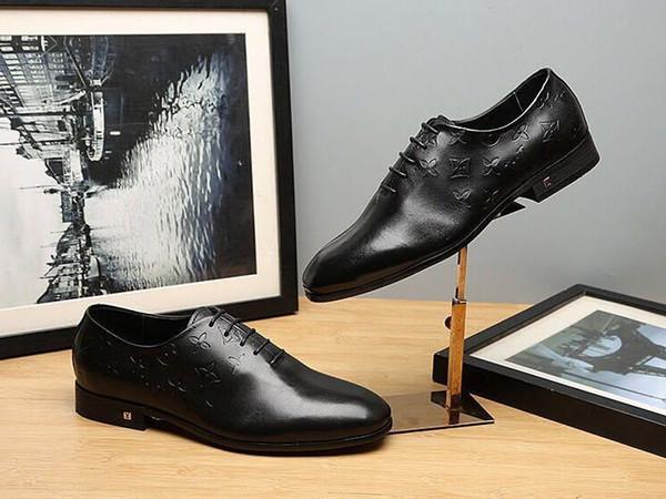 Duping520 Pequeno rodada cabeça sapatos de negócios Homens Vestido Sapatos BOTAS LOADERS DRIVERS BUCKLES SNEAKERS SANDALS