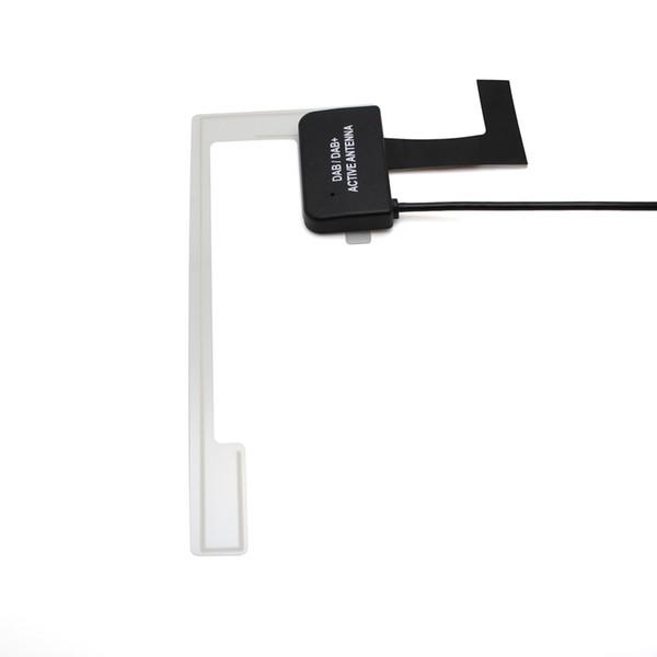 자동차 DAB 안테나 범용 DAB 어댑터 스티커 SMB 커넥터 자동차 라디오 액티브 디지털 스테레오 공중 창 실장 직각 GPS