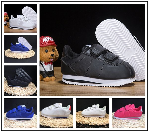 cheap for discount 57342 827d6 2019 2019 Sale Classic Cortez Basic Nylon PRM Boy Girl Youth Casual  Sneakers Adlut Black Red White Blue Lightweight Kids Children Running Shoes  From ...