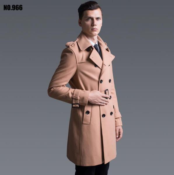 kaki bleu noir casual manteau de cachemire pour hommes pardessus double boutonnage casaco masculino inverno mont erkek sobretudo angleterre 6XL