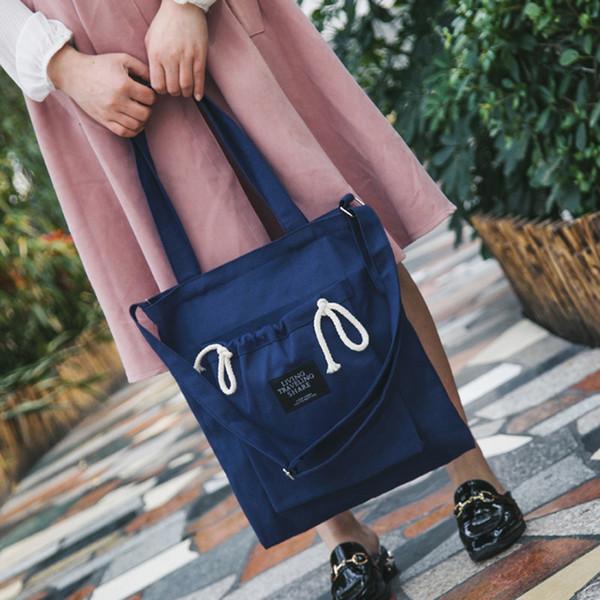 2019 donne borsa a tracolla tela studente ambientale shopping bag grande capacità tote pacchetto borsa casual per le donne borsa