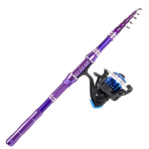 1.8m 2.1m 2.4m 2.7m 3.0m ultra short fishing sea pole and reel comobo set carbon fiber super hard throwing rod spinning wheel thumbnail