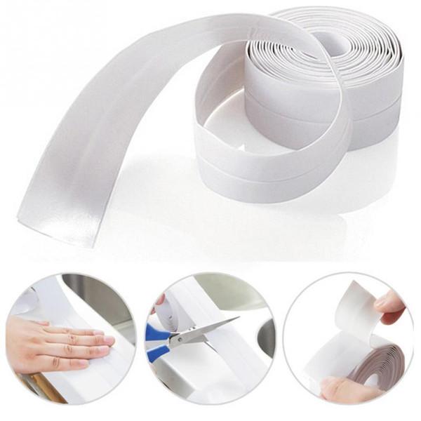 Material PVC Baño pared de sellado de la cinta del molde impermeable a prueba de cinta adhesiva de 3.8mx3.2cm Cocina Baño pared de sellado Cintas Gadge