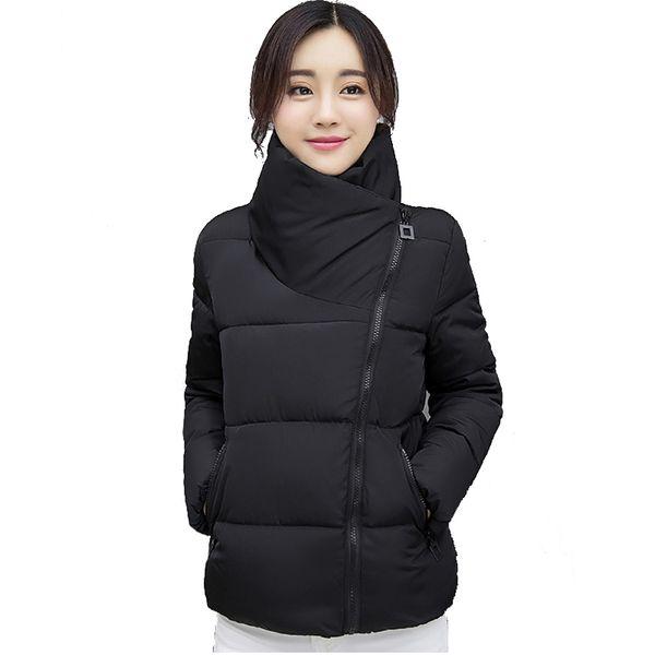 Stand Collar Winter Jacket Women Solid Stylish Womens Basic Jackets Outwear Autumn Short Coat Jaqueta Feminina Inverno 2018 New