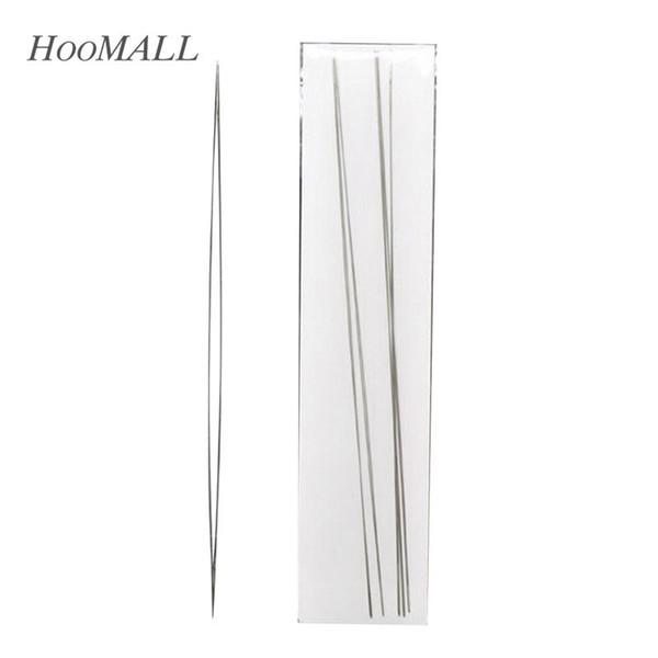 tapa de cuentas 6 piezas Agujas de abalorios curvadas de ojo grande Costura de hilo de tono de plata 125 x 0,6 mm con cuentas patrones sin costuras