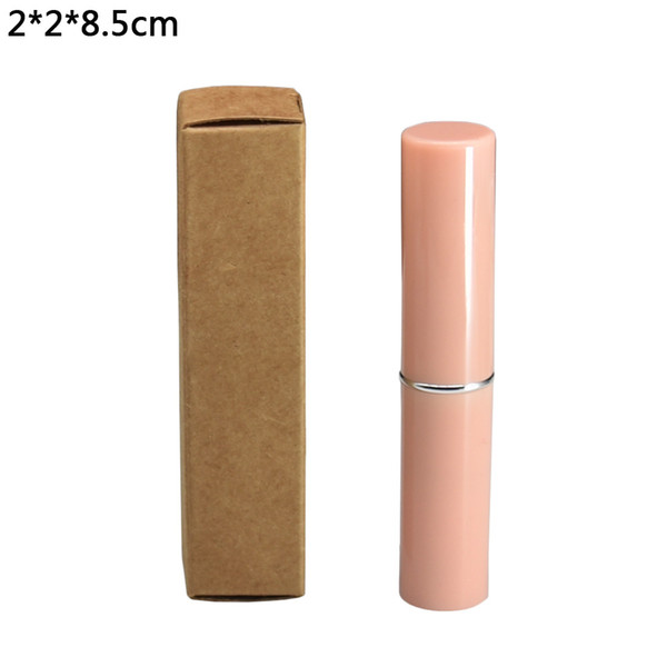 50pcs/lot 2*2*8.5cm Brown Lipstick Package Kraft Paper Boxes DIY Gift Craft Paperboard Box Wedding Christmas Decorative Packaging Box