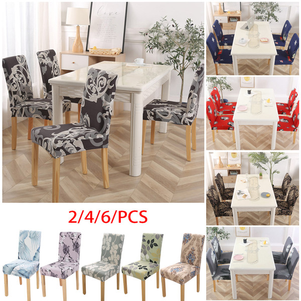 home living kitchen dining chair covers elastic removable washable armless seat slipcover protector party seat cover