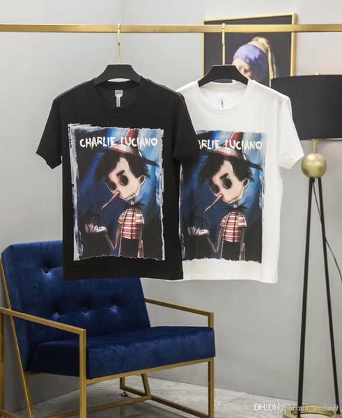 19ss Nouvelle Arrivée Paris CL pinocao Marionnette Femmes Coton T-shirts Impression À Manches Courtes D'été Respirant Gilet Chemise Streetwear En Plein Air T-shirt