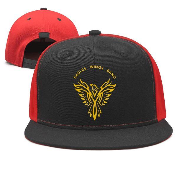 The Eagles Wings Band Design Snapback Flatbrim Baseball Caps Hip-Hop Trucker Hat Adjustable Fashion