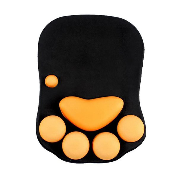 Silicone Cat Claw Pattern Mouse Pad Office Home, Creative 340g Thick Wrist Mat Irregular Cartoon Print