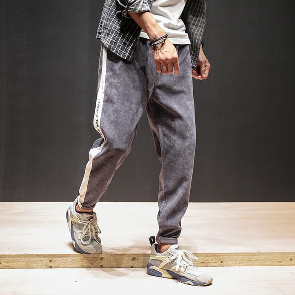 Winter Autumn Warm Velvet Sweatpants Mens Track Pants Casual Baggy Lined Tracksuit Trousers Jogger Harem Pants Men Plus Size 5xl SH190822