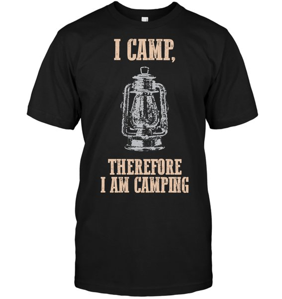 Brand I Camp Therefore I Am Camping T-Shirt Men's Short Sleeve T-Shirt