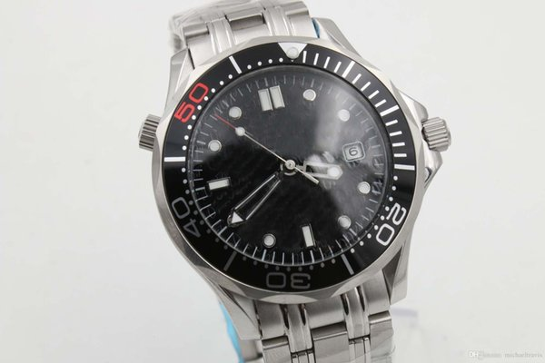 Watches Men Ceramic Rotating Bezel Glass Back Automatic Professional Wach Co -Axial Planet Ocean Watches Men Dive Wristwatches