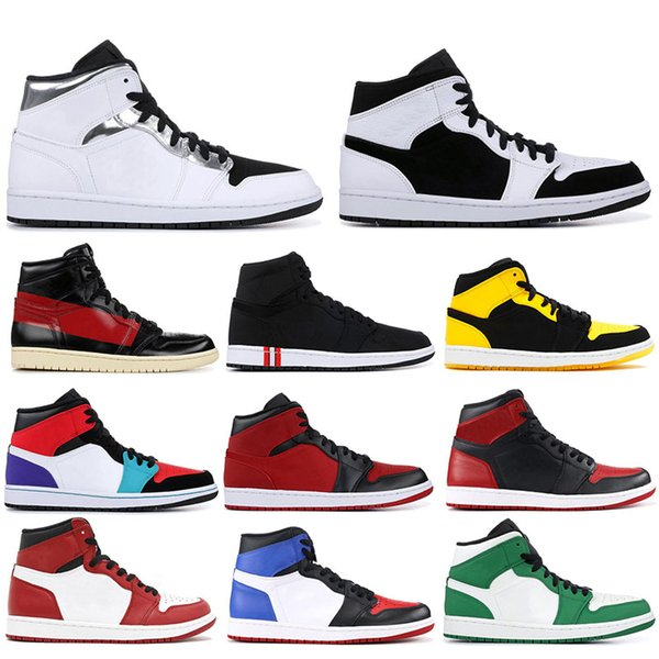1 OG Mens Basketball Shoes Chicago Black White Pine Green Homage Hight quality Top Paris Saint German 1s Men Designer Sneakers 41-47