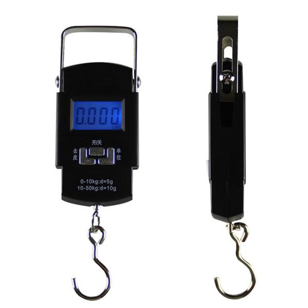 50 kg / 10g Balança Digital Ao Ar Livre Portátil Balanças de Pesca Display LCD Balança Eletrônica Mão Ferramentas Bagagem Pendurado Balança Digital DBC VT1709