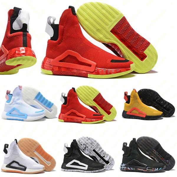 2020 Donovan Mitchell Schuhe für Männer Basketballschuhe Original n3xt l3v3l Zach LaVine schwarze Wolke weiß prime stricken Schuhgröße 40-46