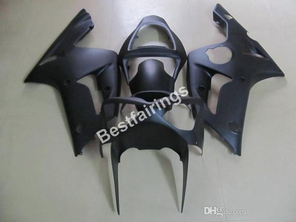 Cheap injection mold plastic fairings for Kawasaki Ninja 636 ZX6R 03 04 matte black motorcycle fairing kit ZX6R 2003 2004 MT32