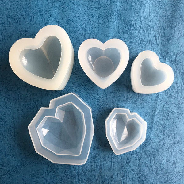 Wholesale 3D Raw Heart Mouse Fondant Silicon Jewelry Molds Chocolate Cookies Shapes Cakes Sweet Ice Cube Bake Decorate Tools