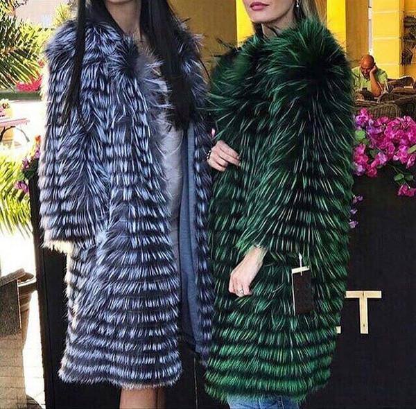 signora donne Real Rex Rabbit Fur Coat colore cincillà outwear inverno soffice pelliccia delle donne con fodera in lana