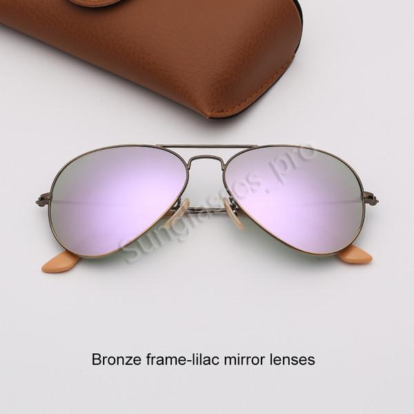 Bronz çerçeve-leylak ayna lensleri