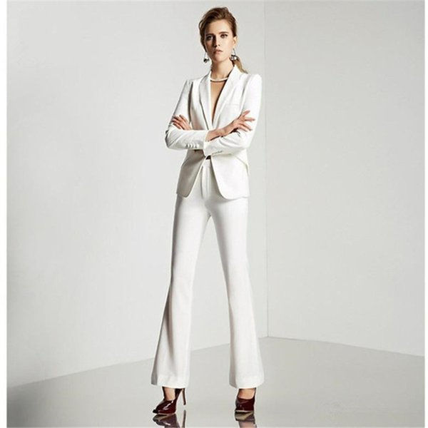 New Shawl Collar Two Piece Ladies Formal Pant Suit For Wedding Office Uniform Designs Women Business Suits Blazer For Work