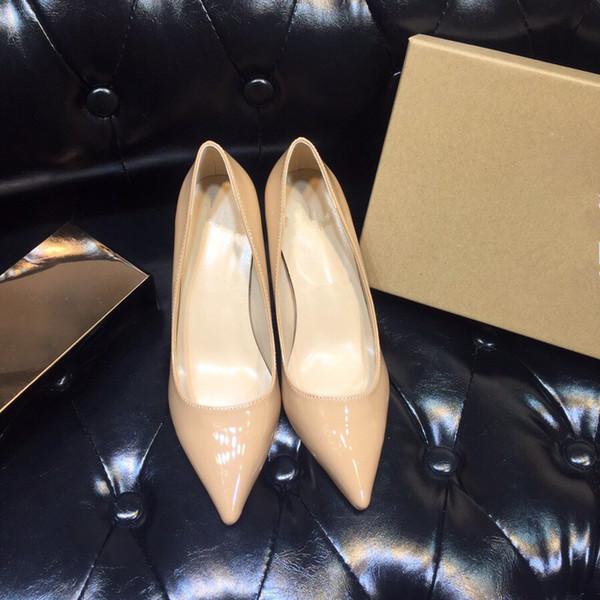 디자이너 여성 발 뒤꿈치 레드 하의 펌프 하이힐 블랙 누드 뾰족한 발가락 라운드 플랫 바닥 드레스 웨딩 신발 sd190718