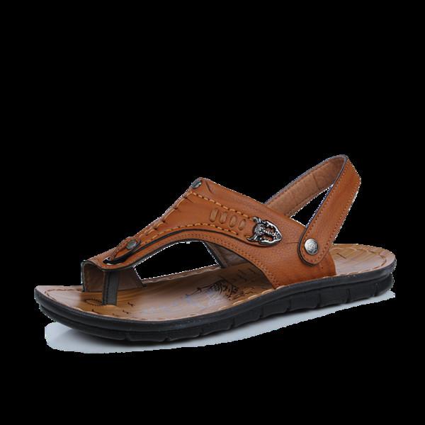 Sandals Summer Vietnam Men's Beach Shoes Fashion Driving Men's Korean Version Of The Flip-flops Two Slippers Tide