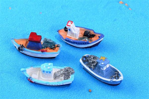 Mini yacht decoration supplies moss micro landscape deco Garden deco Creative handicrafts