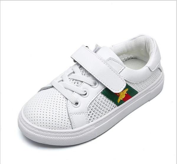 Yeni Erkek Kız Ayakkabı Sneakers Çocuk Okul Spor Eğitmenler Bebek Yürüyor Çocuk Rahat Paten Şık Tasarımcı Koşu Ayakkabıları AB Boyutu 21-35