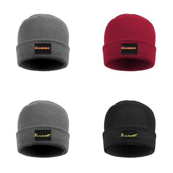 Blammo Logo Männer Frauen Feinstrick Tuke Caps Logo