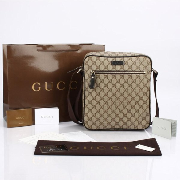 Brand1 13 gucci 13 tote new 2019 europe new fa hion me enger bu ine bag portable briefca e leather bag