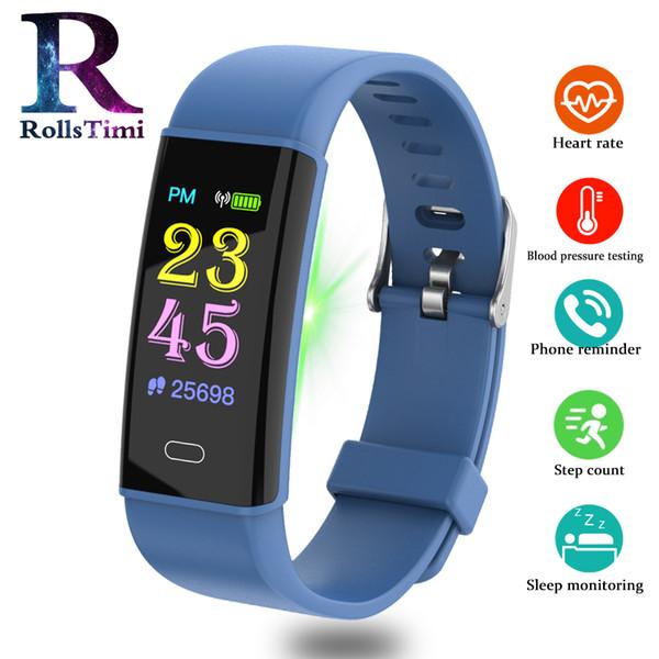RollsTimi intelligente della vigilanza del braccialetto di moda frequenza cardiaca pressione sanguigna orologio Pedometro Bracciale inseguitore impermeabile attività Sala fitness