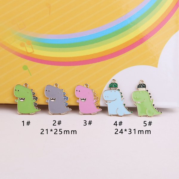 10pcs/Lot DIY Enamel Alloy Charms Dinosaur Jewelry Accessories Pendant Making Necklace Earring Jewelry Accessories 2020 NEW
