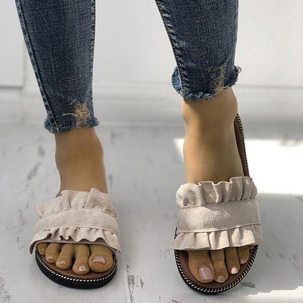 Women Slippers Flat Woman shoes Summer Beach Slip On Slides Flip Flops Sandals Ladies Fashion Slippers Home Female Women's