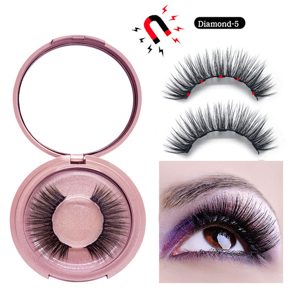 top popular 3D Mink Magnetic Eyelash False Eyelash Extension Waterproof Mink Lashes Makeup Maquiagem Eyelashes Magnetic Liquid Eyeliner 2020