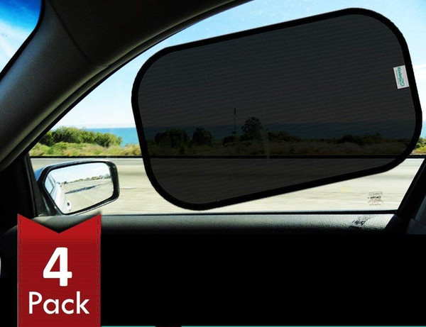 top popular Car Sun Shade (4px) -80 GSM with 15s Film (Highest Possible) for Full UV Protection-2 Transparent and 2 Semi-Transparent Sunshades 2020