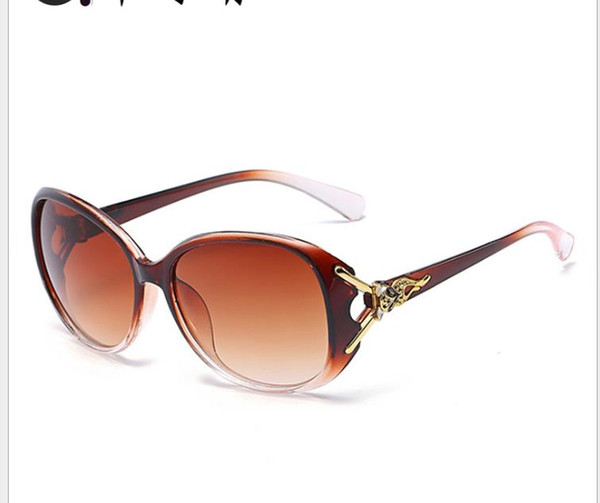 New Women's Sunglasses Classic Fashion Toad Mirror Large Frame Retro-vintage Sunglasses Women's Sunglasses