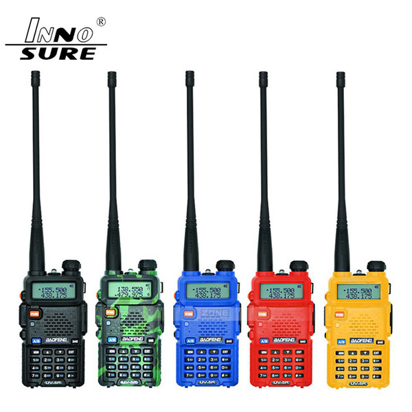 top popular 100% Original Baofeng UV-5R Walkie Talkie Dual Band Professional 5W VHF&UHF Two Way Radio UV5R Handheld Hunting HF Transceiver 2021
