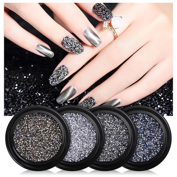 Nail Art Micro Diamond schwarz grau Starss Nail Art Nieten New York Storm Tipps DIY Kristall Bohrer Schmuck PP011