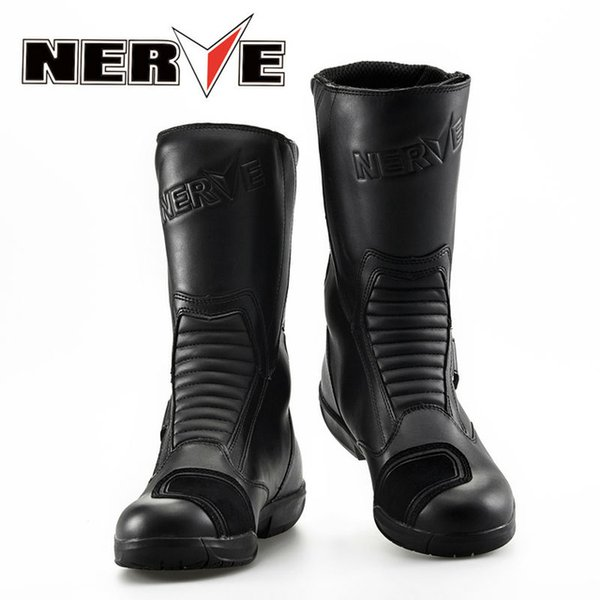 new nerve bikers motorcycle boots moto racing motocross off-road motorbike shoes black size 39/40/41/42/43/44/45 by ems