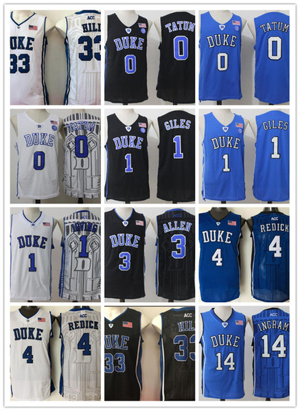 NCAA Duke Blue Devils College Jerseys Kyrie Irving Harry Giles Grayson Allen Brandon Ingram Jayson Tatum Redickr Stitched Basketball Jersey