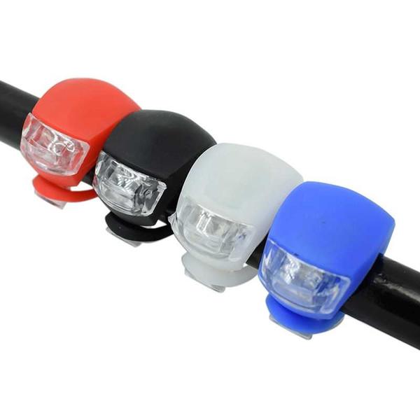 Bisiklet Ön Işık Silikon LED Başkanı Ön Arka Tekerlek Bisiklet Işık Pil Ile Su Geçirmez Bisiklet Bisiklet Aksesuarları Bisiklet Lambası # 24291