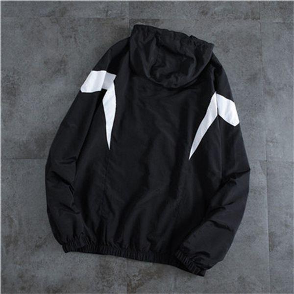 Primera marca Negro Blanco sudaderas con capucha para mujer para hombre de las chaquetas del otoño del resorte rompevientos actividad en invierno chaquetas de vestir exteriores de la cremallera de calidad superior B101615V