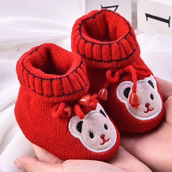 Newborn Baby Boy Girl Boots Soft Bottom Anti-slip Shoes Bootie Infant Toddler Prewalker Autumn Winter Baby Cartoon Shoes 0-6M