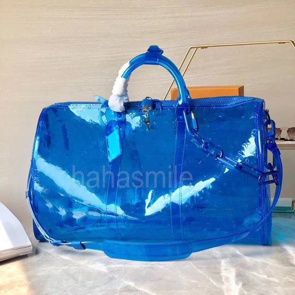 2019 горячий мужской роскошный дизайнер дорожная сумка для багажа мужские сумки keepall 55 пвх clearr сумочка вещевой мешок мода роскошный дизайнер трансп1563950916
