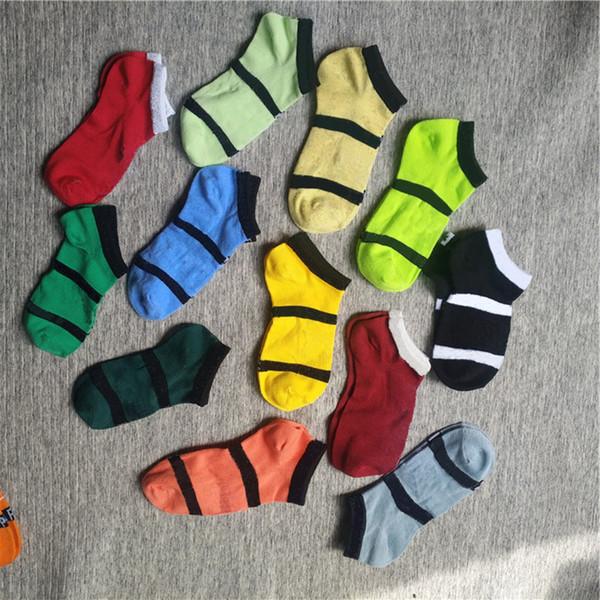 best selling Pink Black Ankle Socks Sports Check Girls Women Cotton Sports Socks Pink Skateboard Sneaker Stockings 10PCS