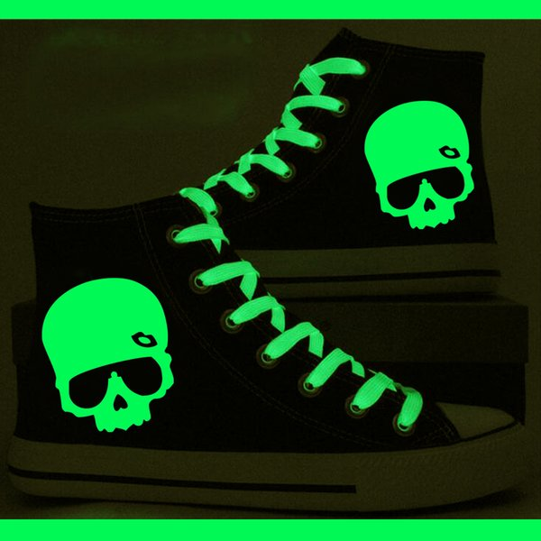 New Luminous Glow in the Dark Skull Canvas Sneakers men Casual Printing Shoes Leisure Shoes Luminous Shoes New Luminous Glow in the Dark Skull Canvas Shoes Sneakers men Casual Printing Shoes Leisure Shoes Luminous Shoes