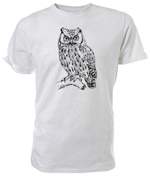 Owl T shirt, Black & White, WILDLIFE - Choice of size & colour! 100% Cotton Brand New T-Shirts Print T Shirt Summer Style Hot Geek