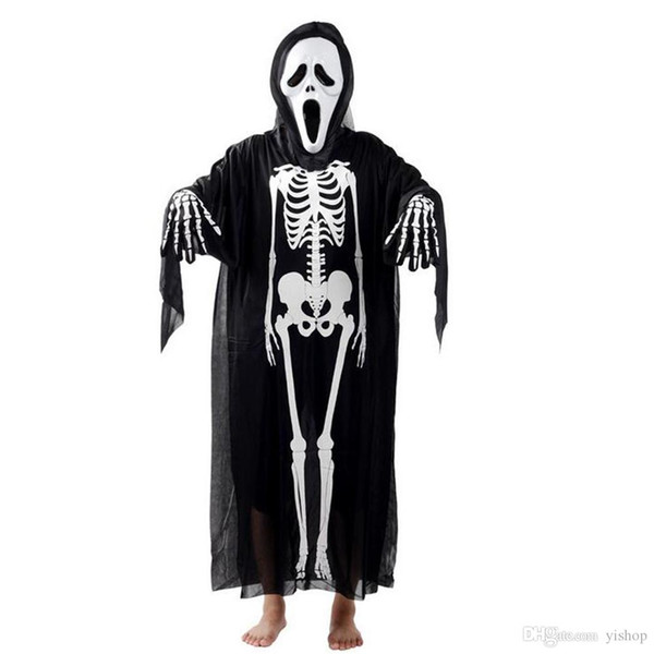 New Style Halloween Masquerade Mask Cosplay Skeletons Ghosts Clothing Scary Horror Props Fit For Kids & Adults Party Decoration Gift